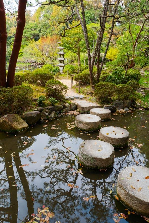 Horizontal japonais de jardin photo libre de droits
