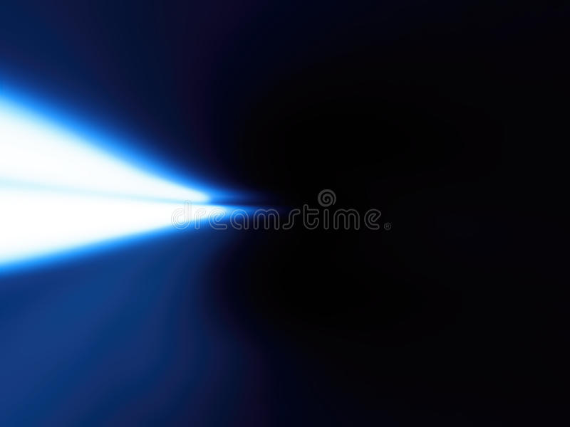 Horizontal left aligned blue light leak background. Hd royalty free illustration