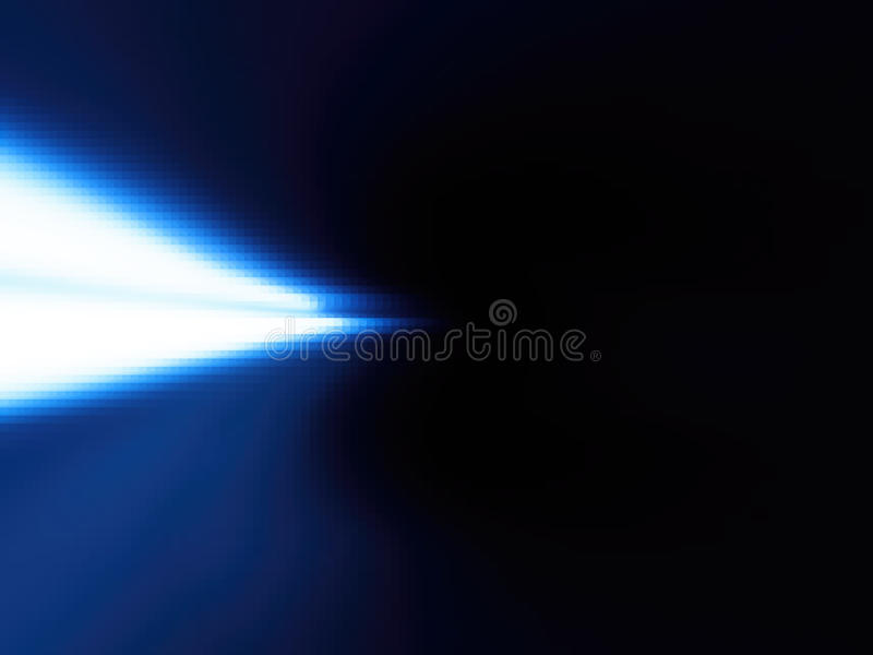 Horizontal left aligned blue light leak background. Hd vector illustration