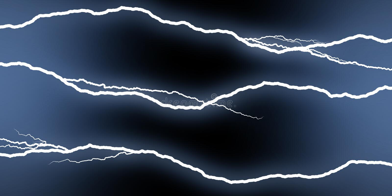 Horizontal Lightning Stock Photos