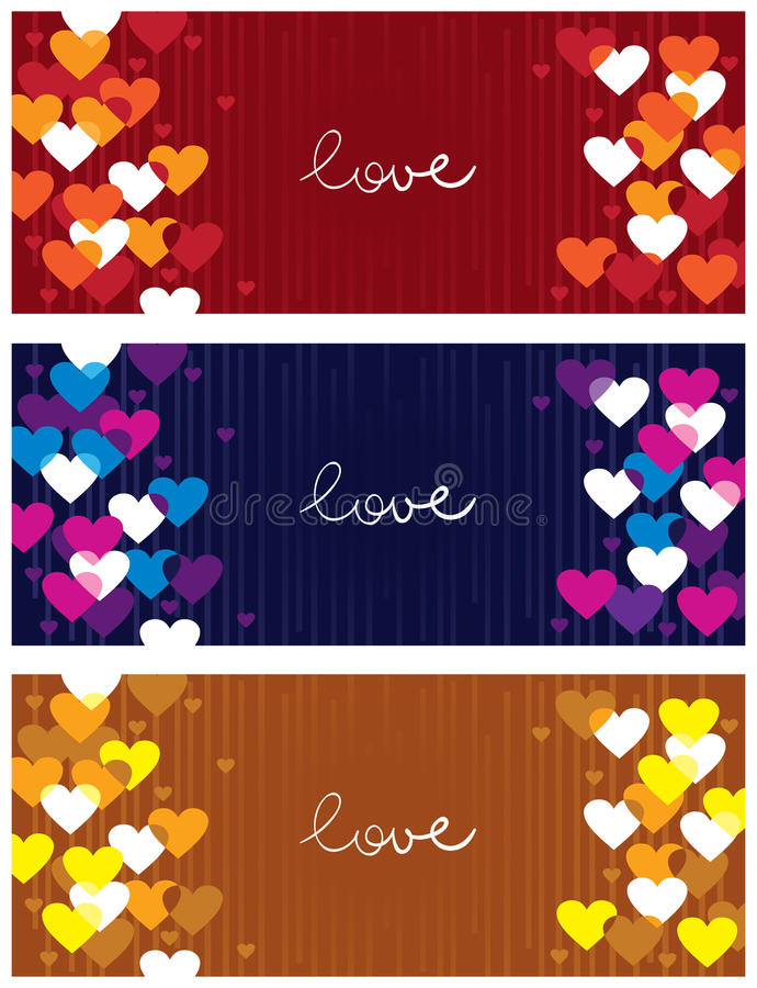 Download Horizontal love banners stock vector. Image of birthday - 23253615