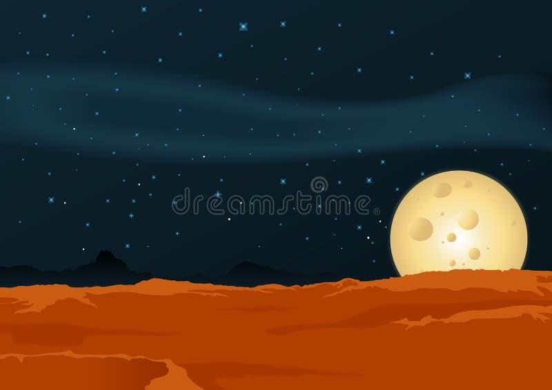 Horizontal lunaire de désert illustration de vecteur