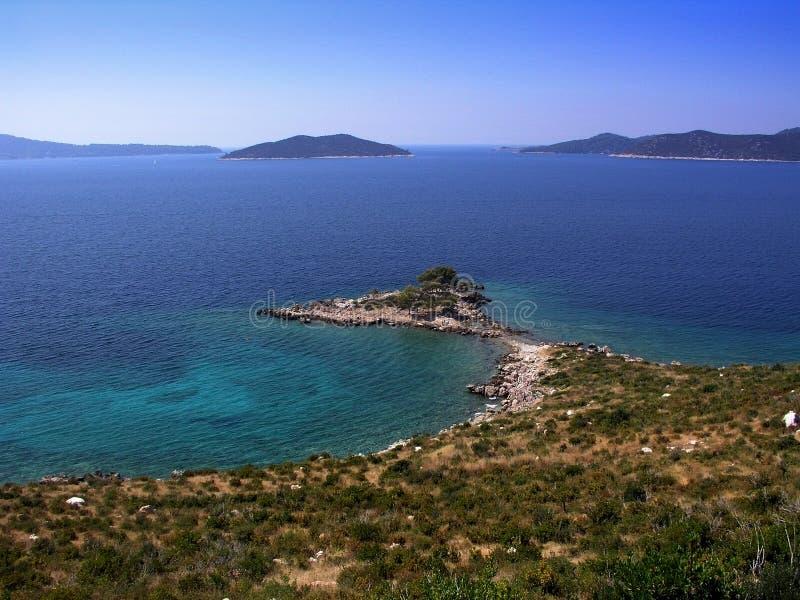 Horizontal méditerranéen photo stock