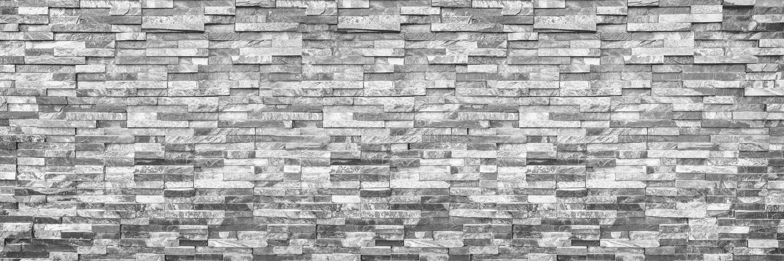 horizontal modern brick wall for pattern and background royalty free stock images