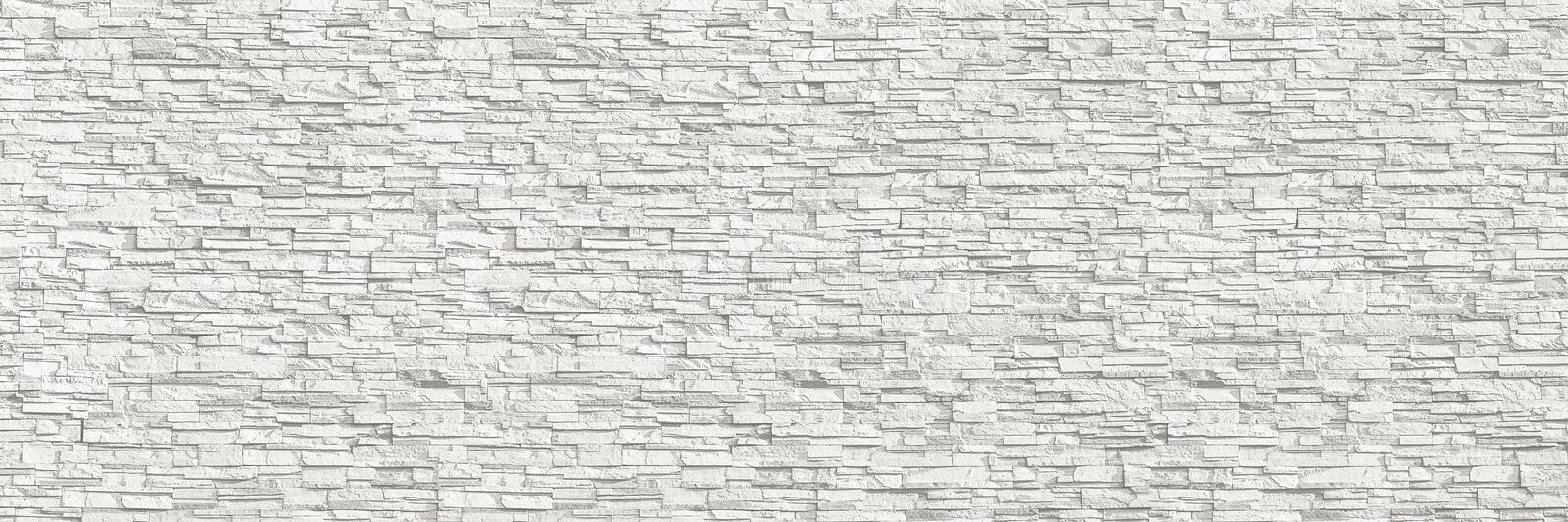 Horizontal modern white brick wall for pattern and background.  royalty free stock photos