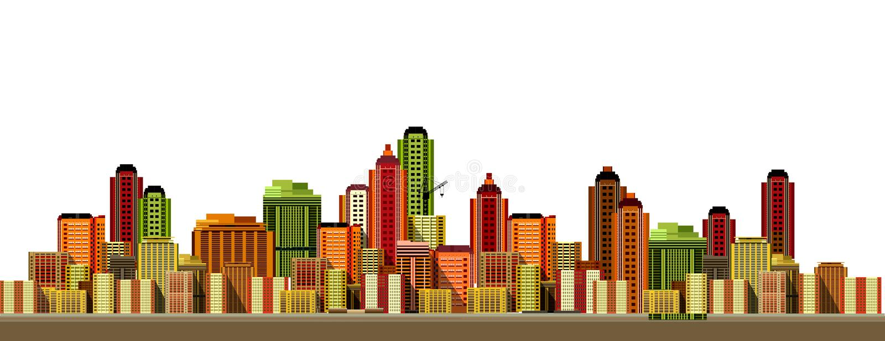 Horizontal moderne de ville illustration stock