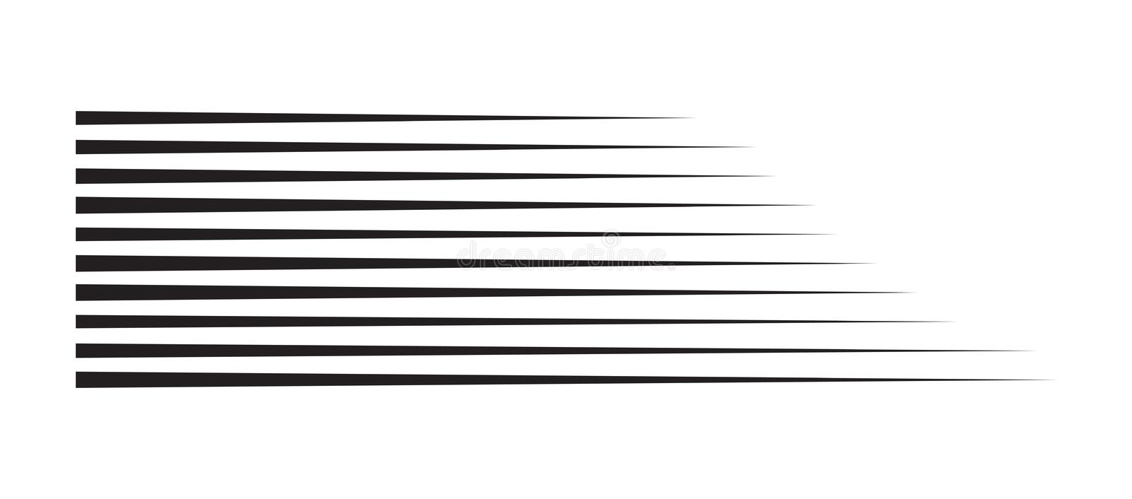 Horizontal motion speed lines for comic book royalty free illustration