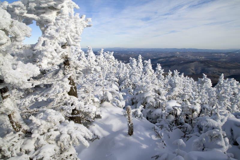 horizontal neigeux photographie stock