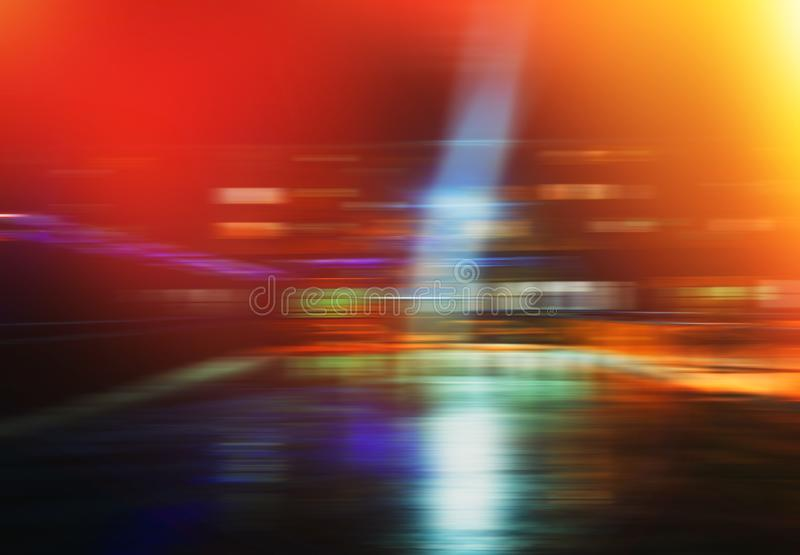 Horizontal night city transportation motion blur background. Horizontal motion blur background hd orientation vivid vibrant bright color rich composition design royalty free stock images