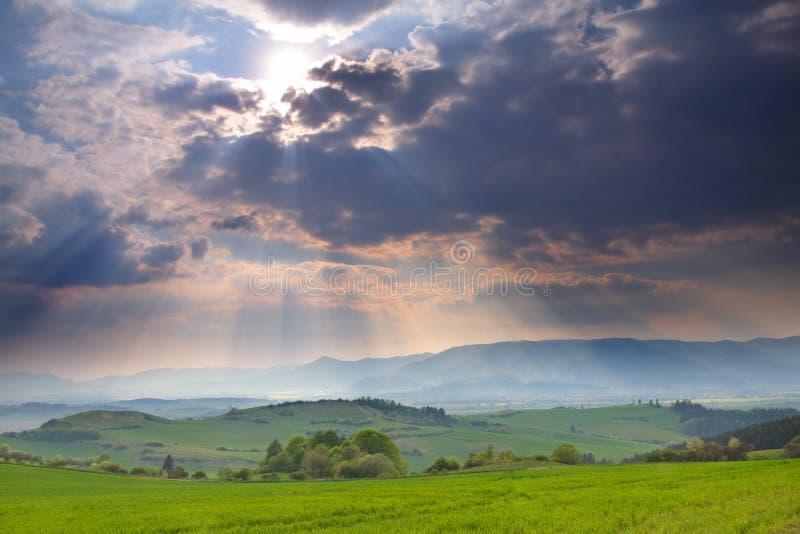 Horizontal orageux photographie stock