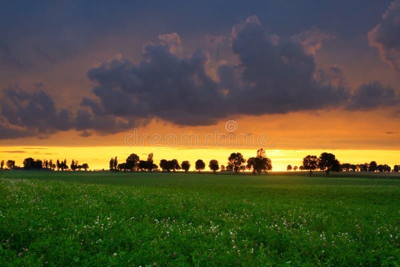 Horizontal orageux photo stock