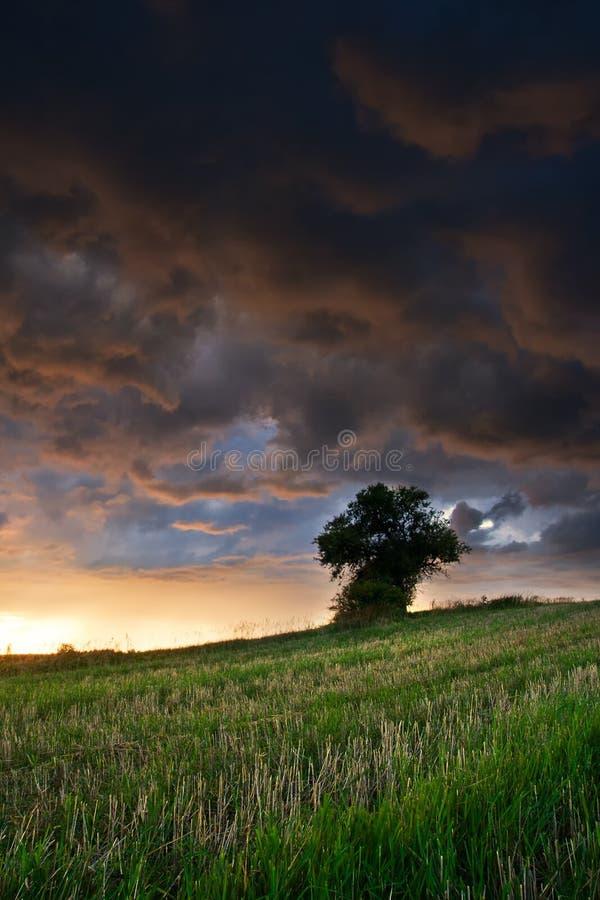 Horizontal orageux photos stock