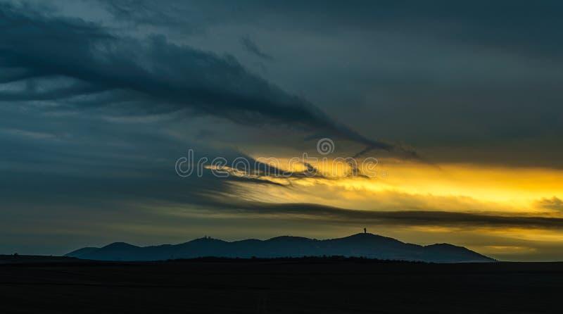 Horizontal orageux photographie stock libre de droits