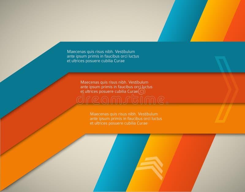 Horizontal-página-folleto-cubierta-línea-fondo ilustración del vector
