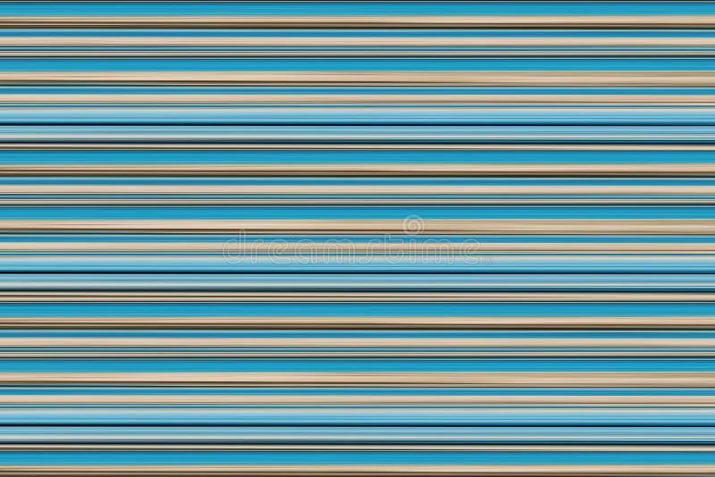 Horizontal pastel lines retro background blue aqua beige stripes parallel base card postcard royalty free illustration