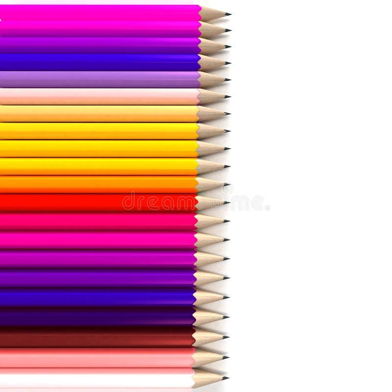 Horizontal Pencil Background Stock Illustration ...