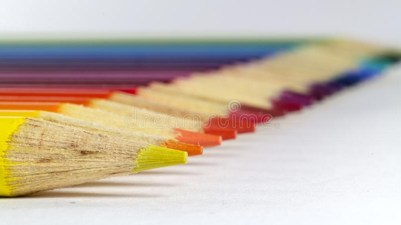 Horizontal photo of colored pencils. Photo of Horizontal photo of colored pencils stock photography