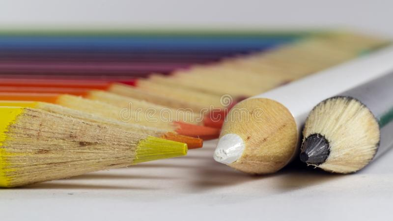 Horizontal photo of colored pencils. Photo of Horizontal photo of colored pencils stock photos