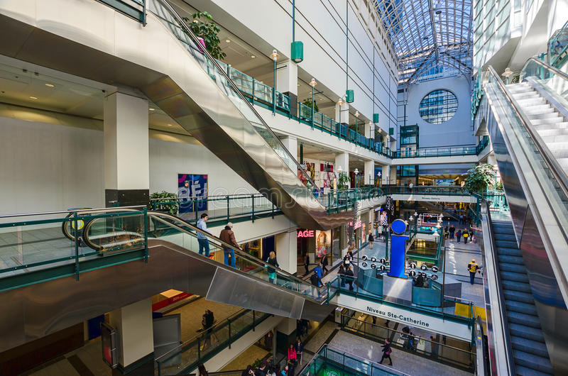 Montreal Eaton Center. Horizontal picture of Eaton Center, the main mall in Montreal