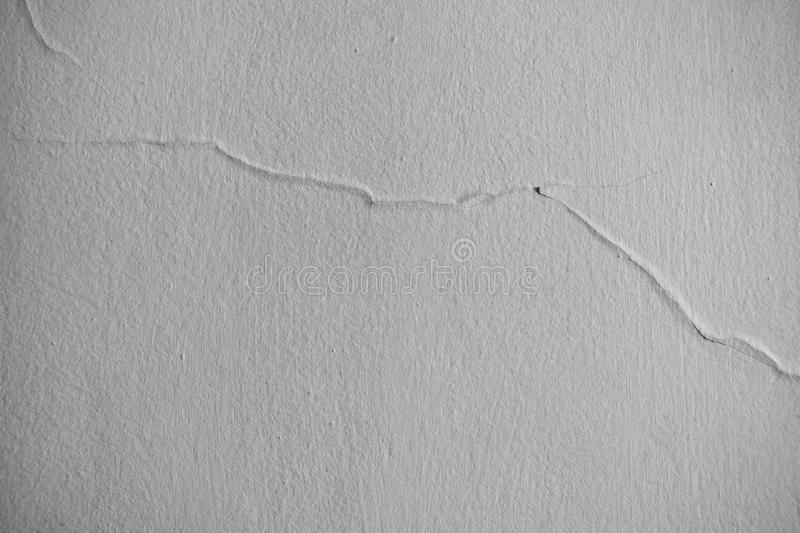 Horizontal picture of white wall with crack royalty free stock image