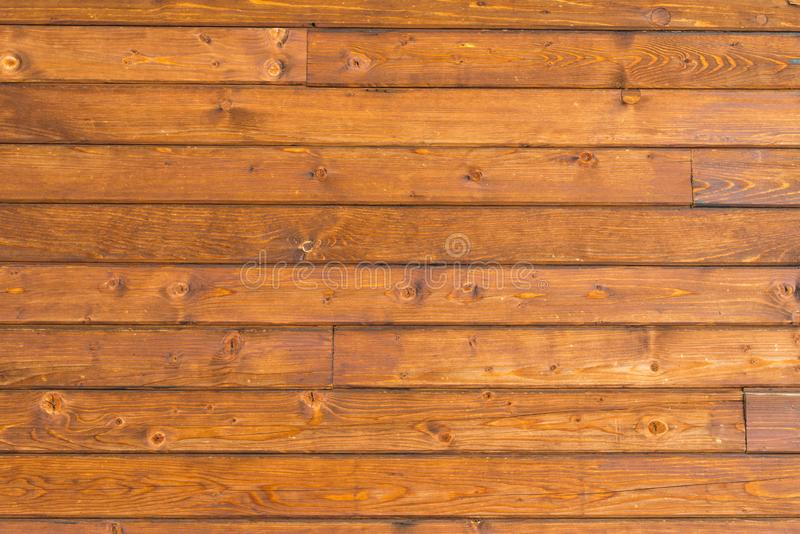 Horizontal pine wood wall close up shot stock photo