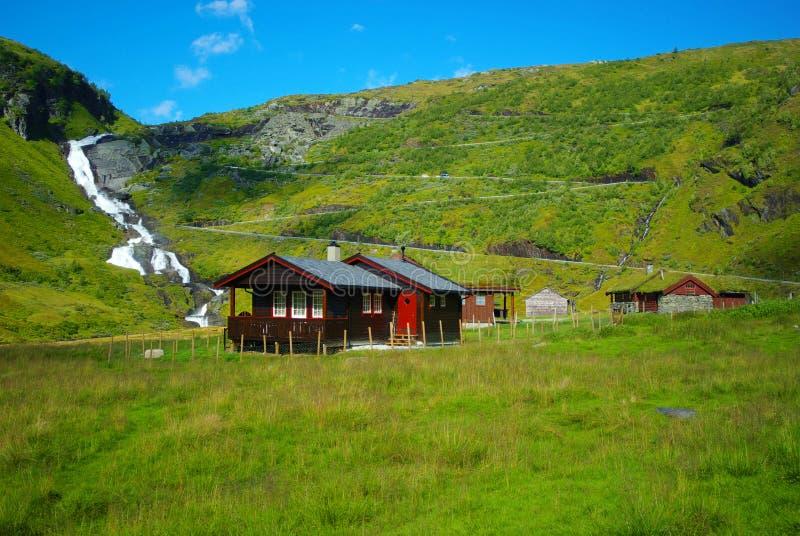 Horizontal pittoresque de la Norvège. photographie stock libre de droits