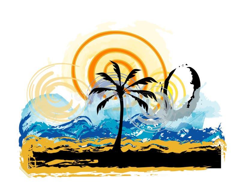 Horizontal, plage illustration de vecteur