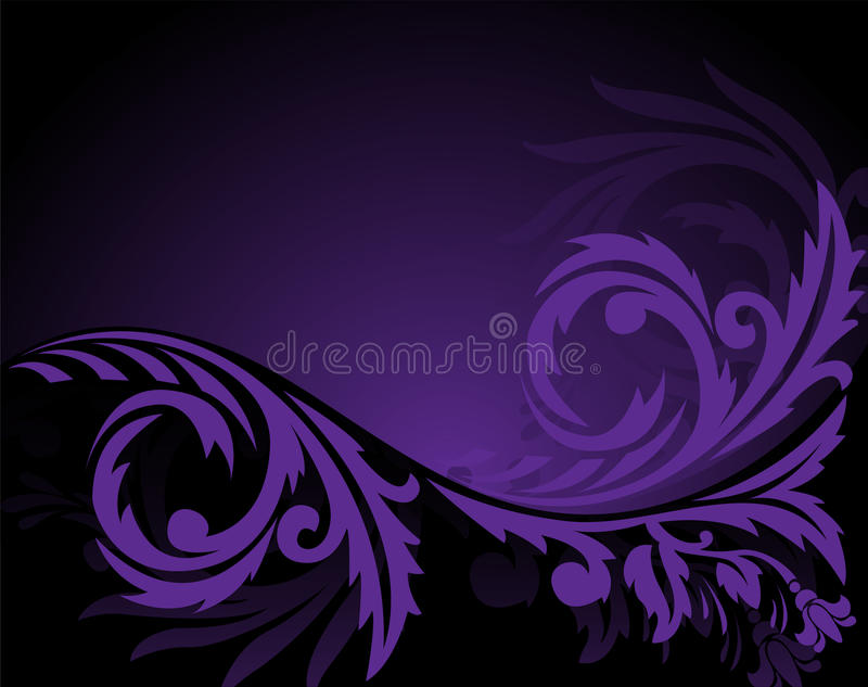 Horizontal Purple Ornament Stock Images