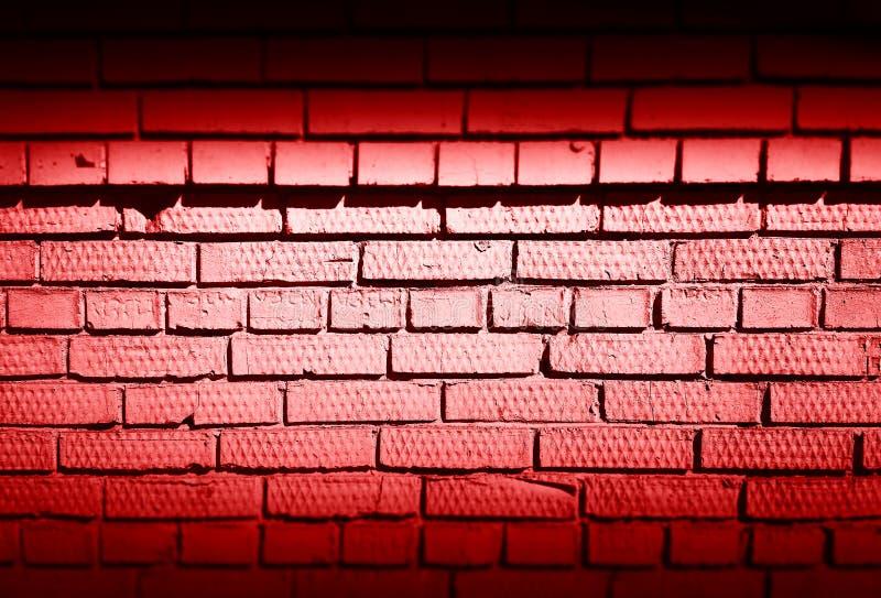 Horizontal red dark brick wall texture background royalty free stock photos