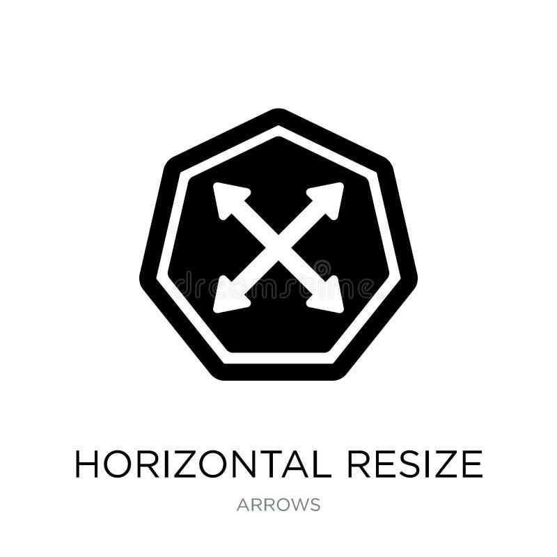 horizontal remettez à la côte l'icône dans le style à la mode de conception horizontal remettez à la côte l'icône d'isolement sur illustration libre de droits