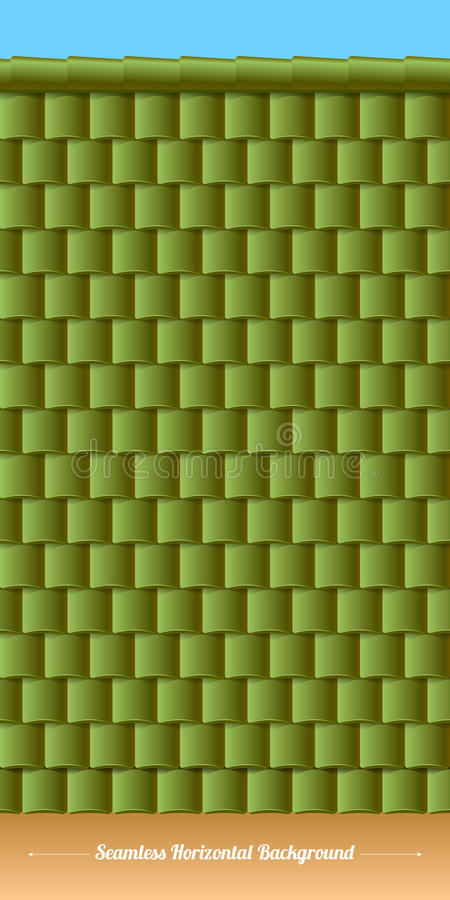 Free Horizontal Roof Tiles Texture. Green Tiles. Stock Photography - 46999732