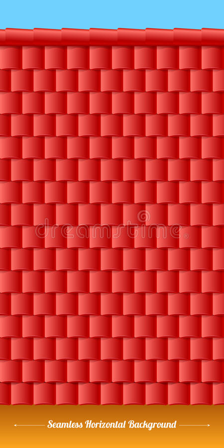 Free Horizontal Roof Tiles Texture. Red Tiles. Stock Photo - 46999710