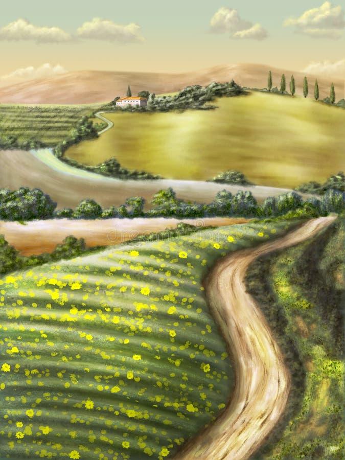 Horizontal rural illustration de vecteur