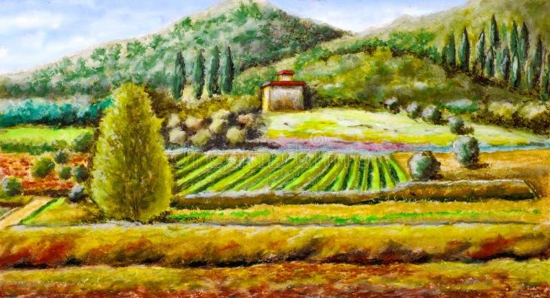 Horizontal rural illustration libre de droits