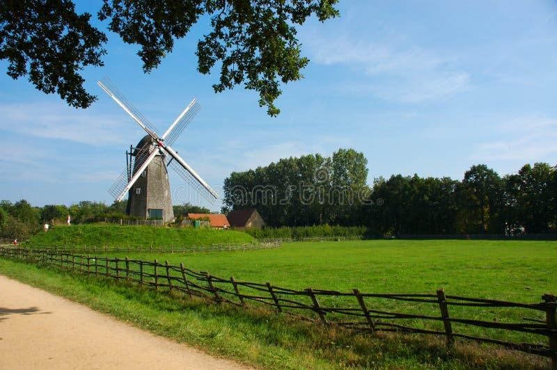 Horizontal rural avec le moulin à vent. photographie stock libre de droits