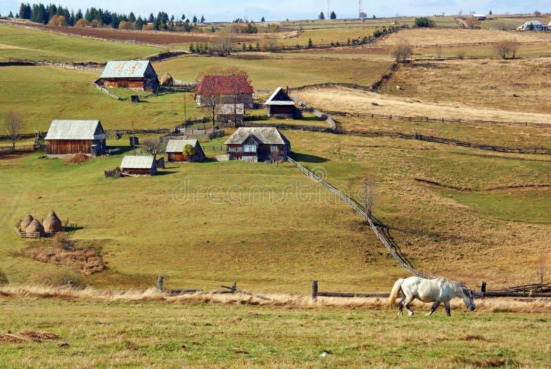 Horizontal rural de montagne photographie stock libre de droits