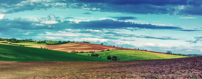 Horizontal rural de source photo stock