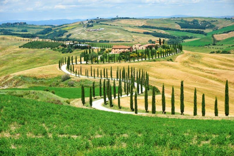 Horizontal rural en Toscane image stock