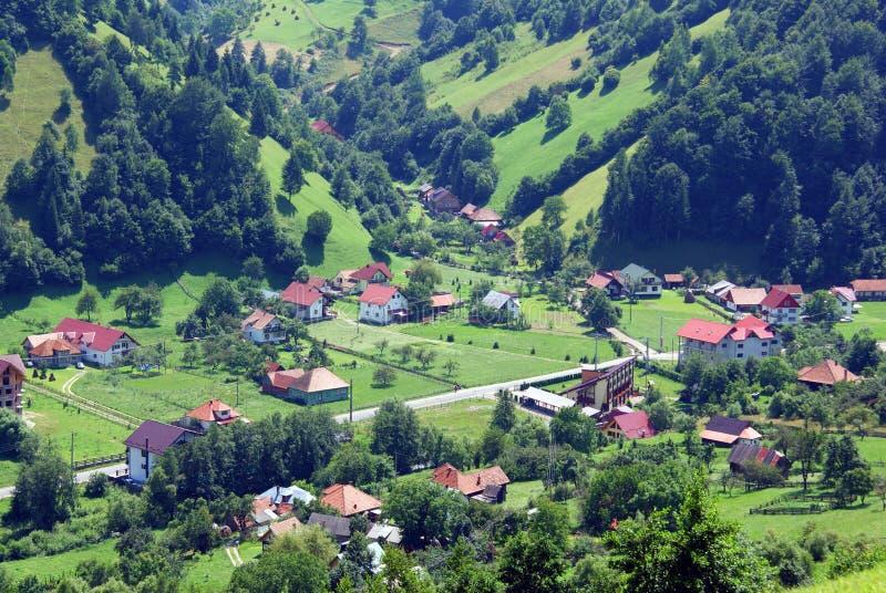Horizontal Rural En Vallée à L Haute Altitude Photos stock
