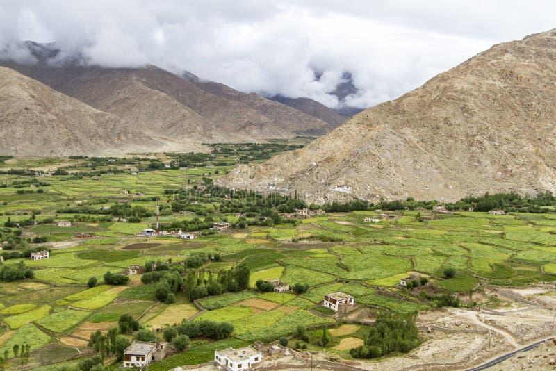 Horizontal scénique de montagne dans Ladakh images libres de droits