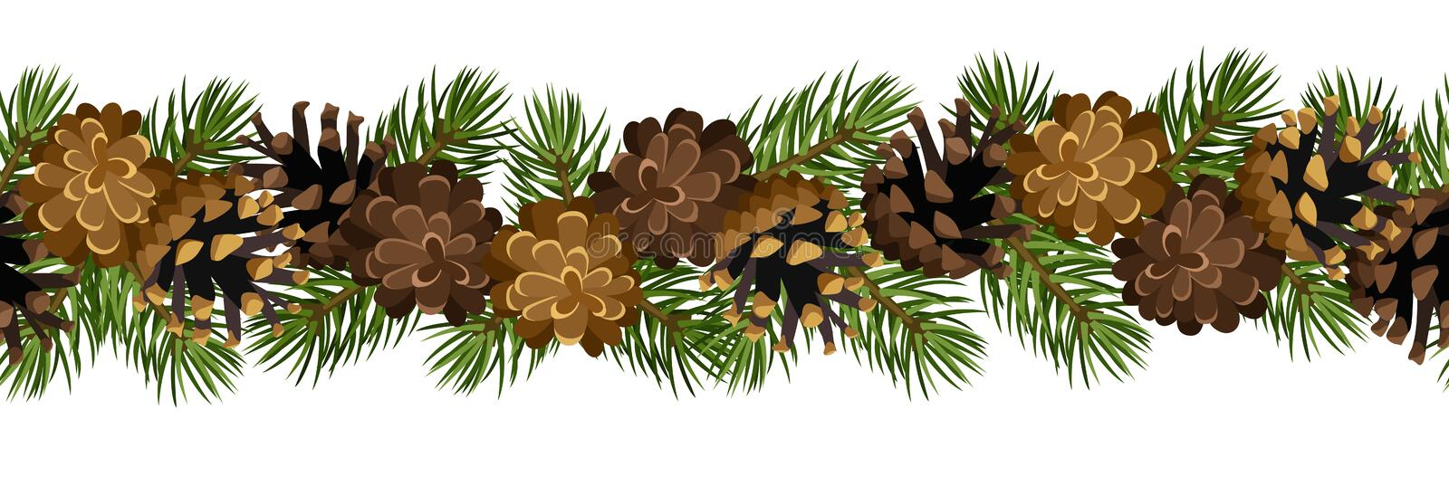 Download Horizontal Seamless Background With Cones Stock Images - Image: 28333064