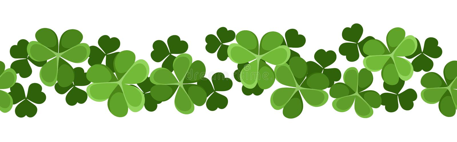 Download Horizontal Seamless Background With Shamrock. Stock Vector - Image: 28990859