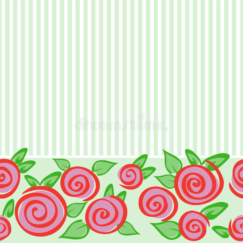 Download Horizontal Seamless Ornament With Roses Stock Vector - Image: 18394176