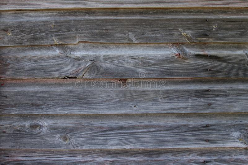 Horizontal Section of Old Red Weather Barn Wood stock image