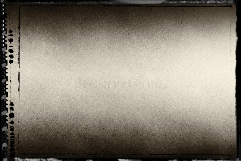 Horizontal sepia toned blank filmscan background. With border royalty free stock photos