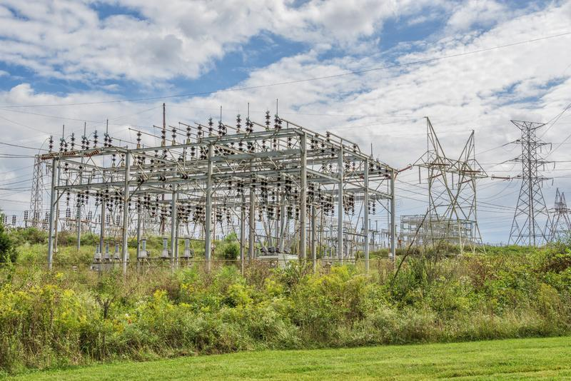 Electric Power Grid Station royalty free stock photo