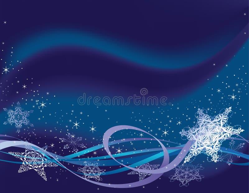 Horizontal snowflake background vector illustration