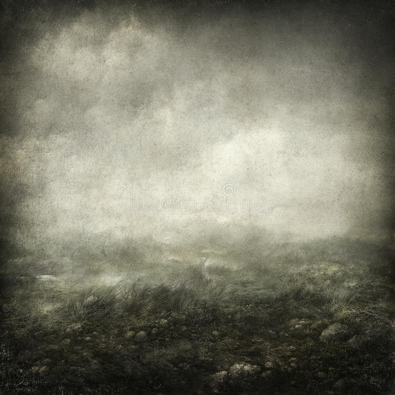 Horizontal sombre illustration stock