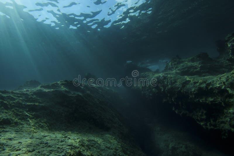 Horizontal sous-marin photos libres de droits