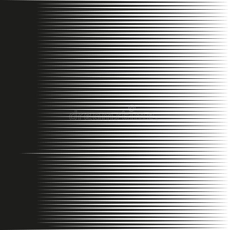 Horizontal speed lines for comic books.Straight, parallel lines abstract geometric texture,Monochrome lines pattern stock illustration